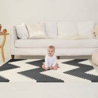 Mata piankowa Playspot Black/Cream GEO