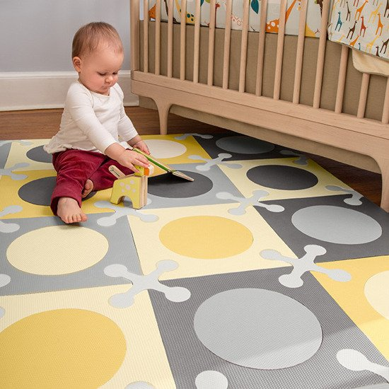 Piankowa mata do zabawy Playspot Grey/Gold