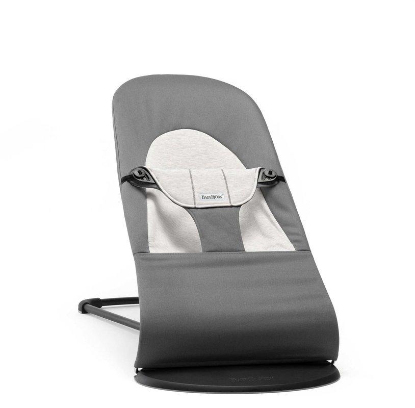 BABYBJORN - leżaczek BALANCE SOFT - Grey/Grey Jersey