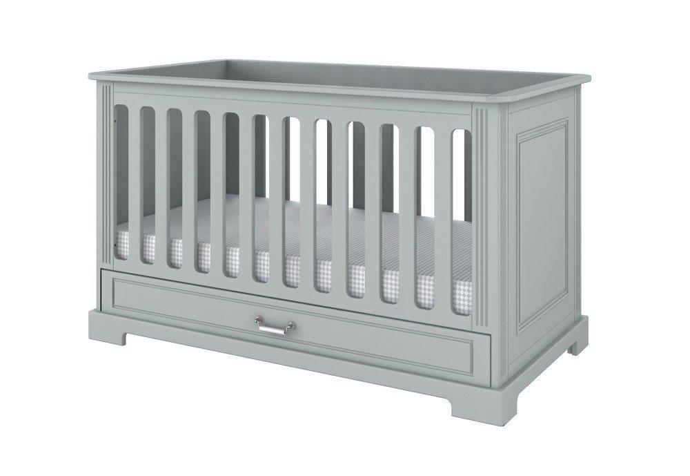Bellamy Ines neutral grey łóżeczko 70x140 z funkcją tapczanika