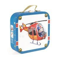 Puzzle 4w1 Helikopter Piotrka, Janod