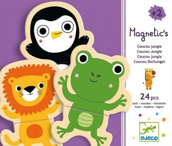 Drewniane puzzle magnetyczne zwierzątka