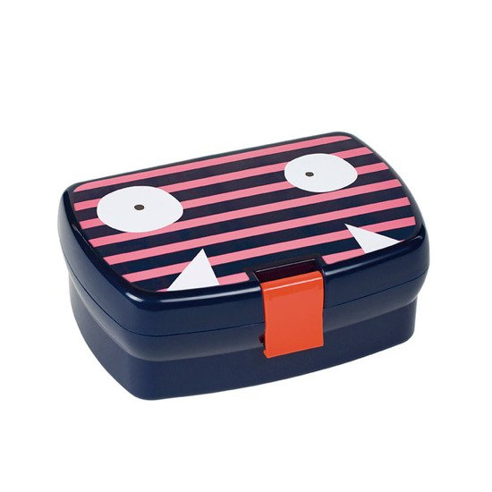 Lassig Śniadaniówka Lunchbox Little Monster koral