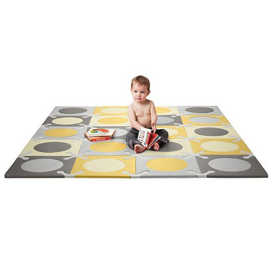 Mata piankowa do zabawy Playspot Grey/Gold