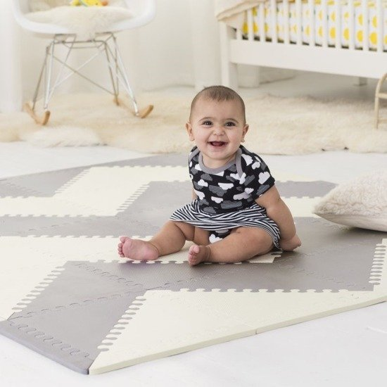 SKIP HOP Mata piankowa do zabawy Playspot Grey/Cream GEO