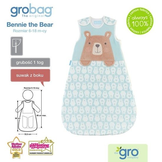 Śpiworek Grobag Bennie the Bear 1 tog, GRO Company